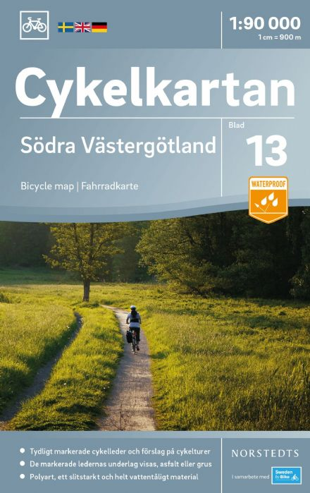 Sweden Cycling Map 13 - Västergotland South